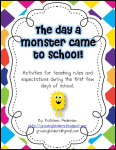 Teaching Manners and Expectations - Monster Comes to School