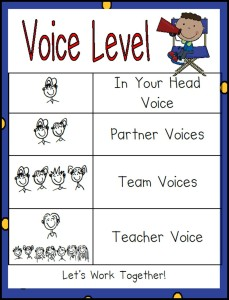 Voice Level Printable Chart
