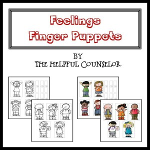 Feelings Activity Finger Puppets