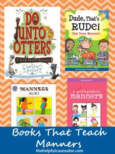 Books that teach manners cover
