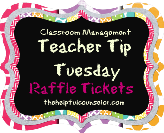 Classroom Management Raffle Tickets Teacher Tip