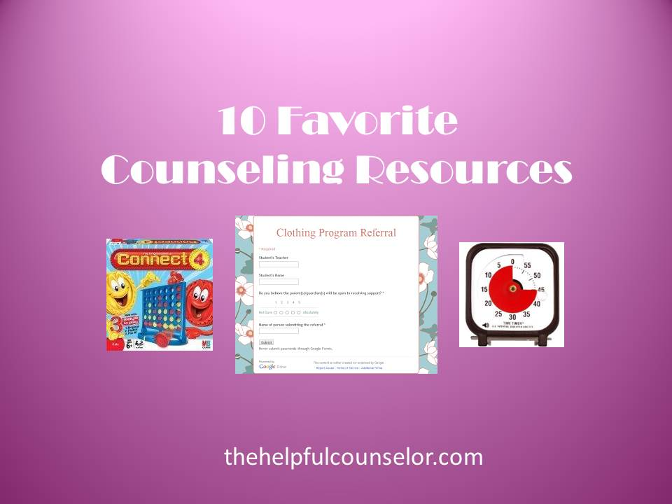 10 Favorite Elementary Counseling Resources