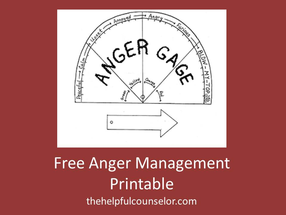 Free Anger Management Printable Activity The Helpful Counselor – Anger Management Worksheets for Kids
