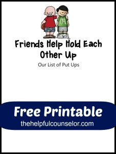 list of put ups - Free Bullying Activity The Helpful Counselor