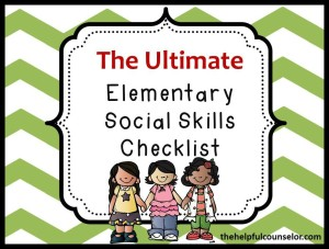 Comprehensive Social Skills Checklist