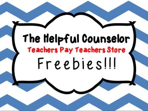 TPT School Counselor Blog Hop The Helpful Counselor Freebies