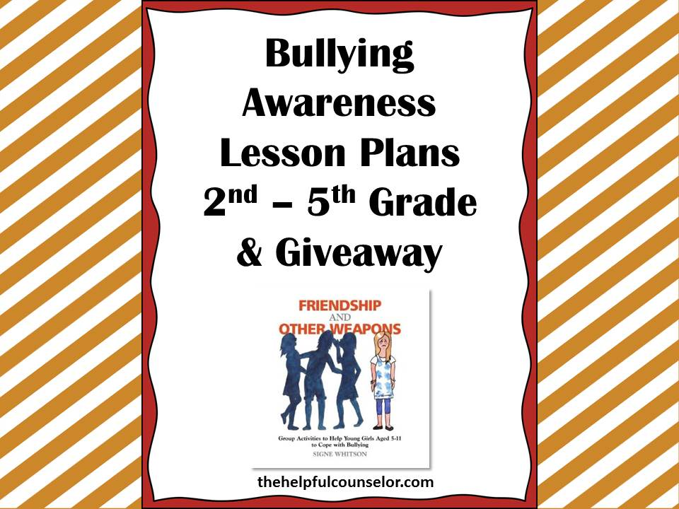 Bullying Prevention Awareness Lessons and a Giveaway! •
