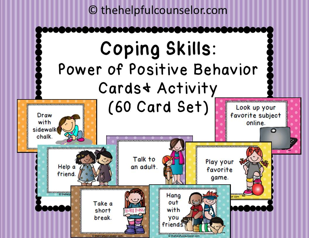 CopingSkillsPositiveThinkingElementaryCounselingActivity