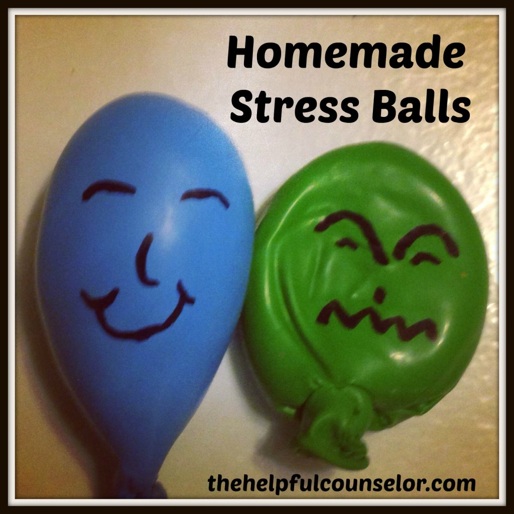 Homemade Stress Balls Feelings Elementary Counseling