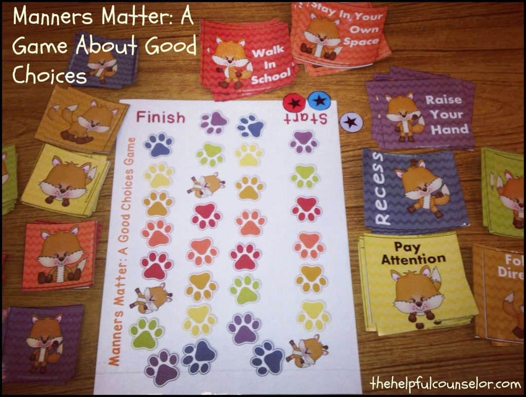manners matter fun freebie to encourage kind words
