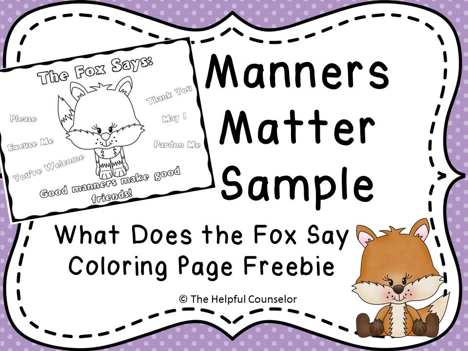 Teaching children manners coloring page freebie