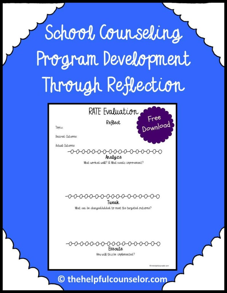RATE for school counseling program eval