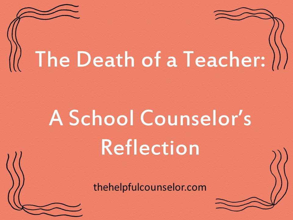 responding to death of a teacher