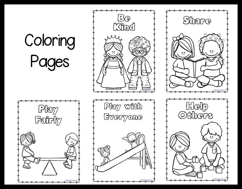 kindness coloring pages free - photo#3