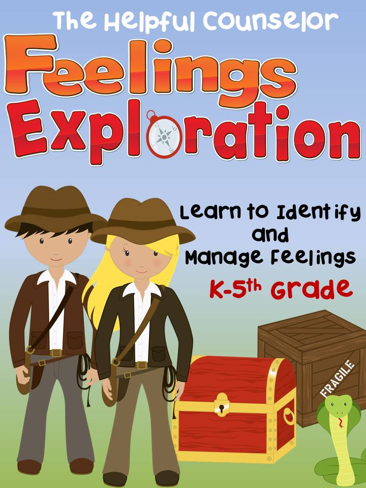 Feelings Exploration Game Identify Feelings and Manage Feelings Elementary Counseling