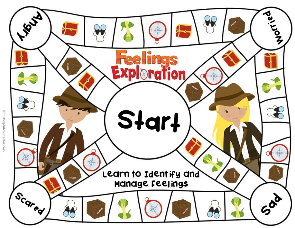 Feelings Game Board Elementary Counseling