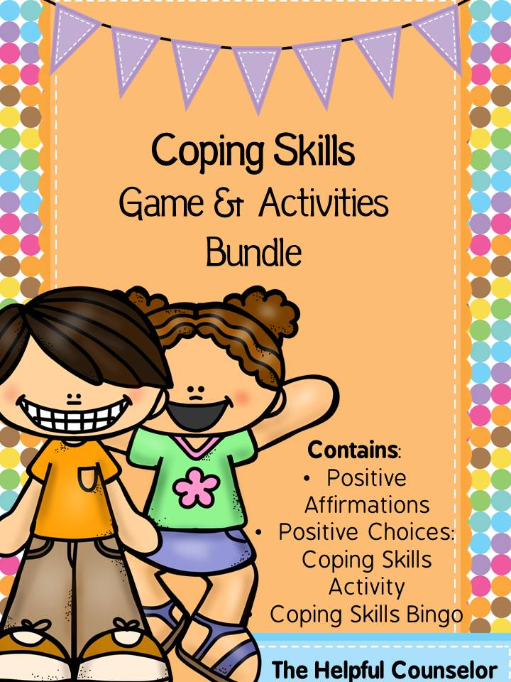 Coping Skills Bundle Elementary Counseling