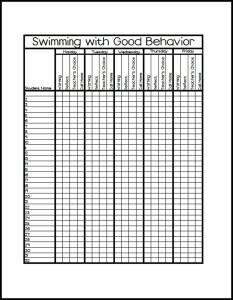 Behavior Monitoring Printable