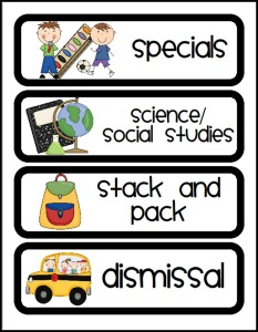 Classroom Schedule Task Cards Free Printable