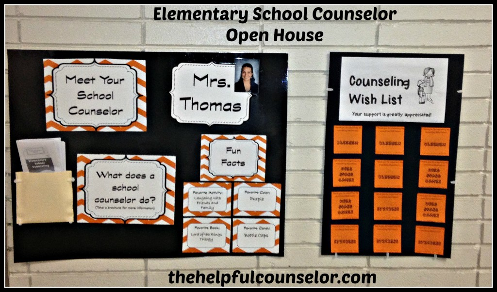 elementary counseling open house