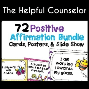 Affirmation cards and activities