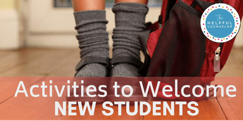 Activities to help welcome new students! Lots of free ideas for school counselors to make their new students feel welcome