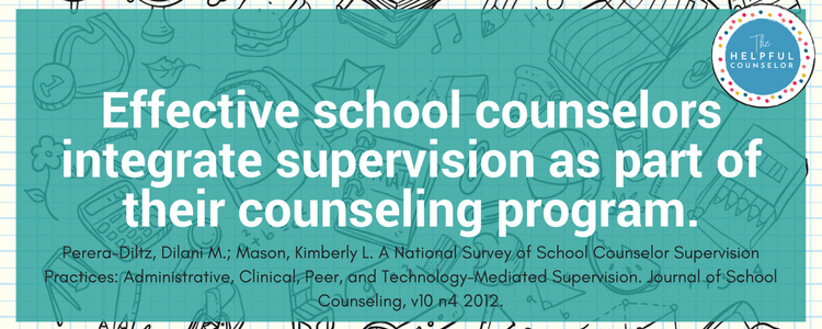 Effective counselors and supervision