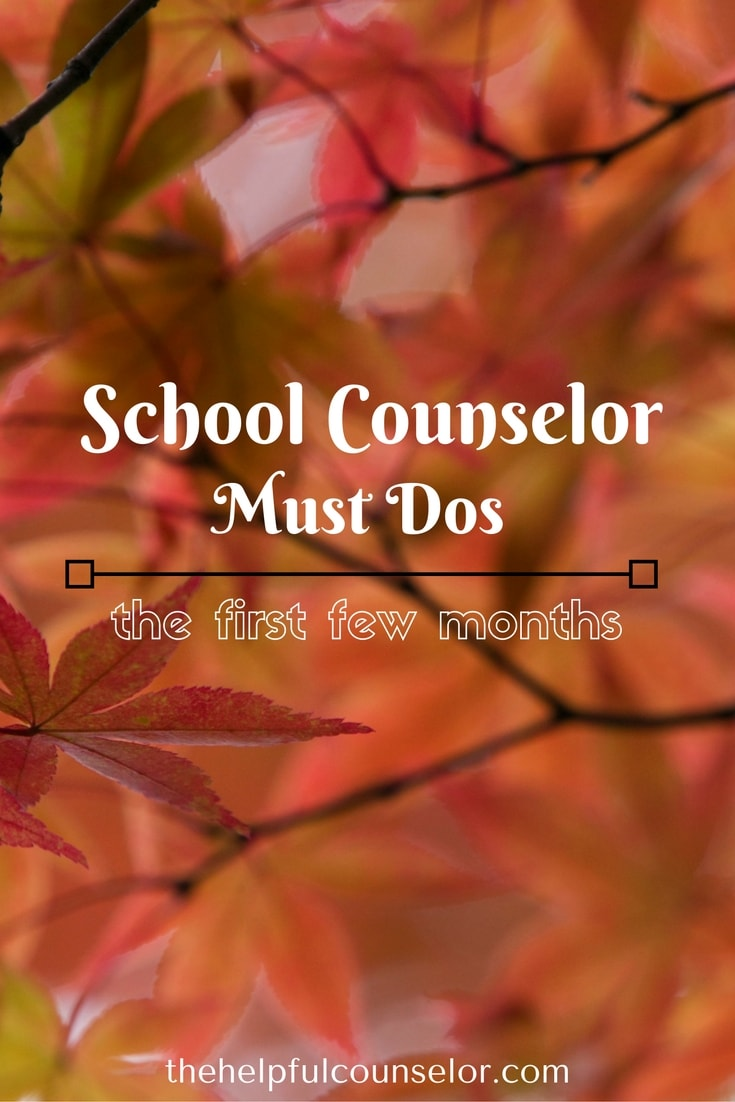 School counselors are busy at the beginning of the school year. Use this list to stay on track and get the biggest return for your time. #schoolcounseling #backtoschool