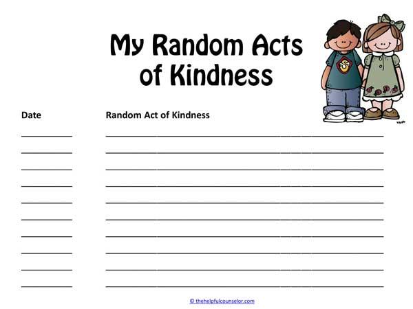 Random Acts of Kindness Free Activity
